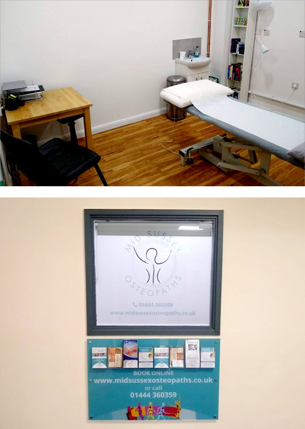 New rooms - Mid Sussex Osteopaths, Haywards Heath